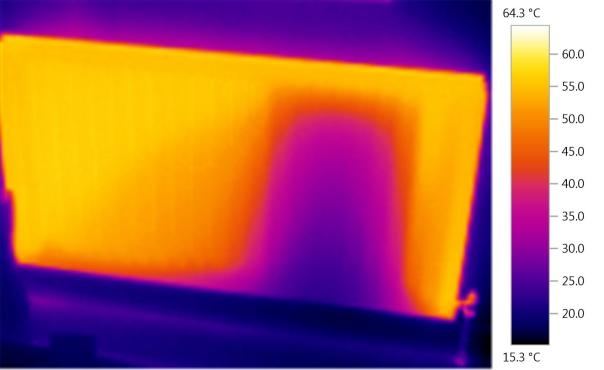 Radiator heat map