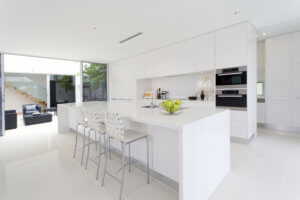 Modern Glossy white Fitted kitchen Glasgow