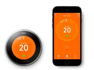 NEST phone app with NEST Thermostat