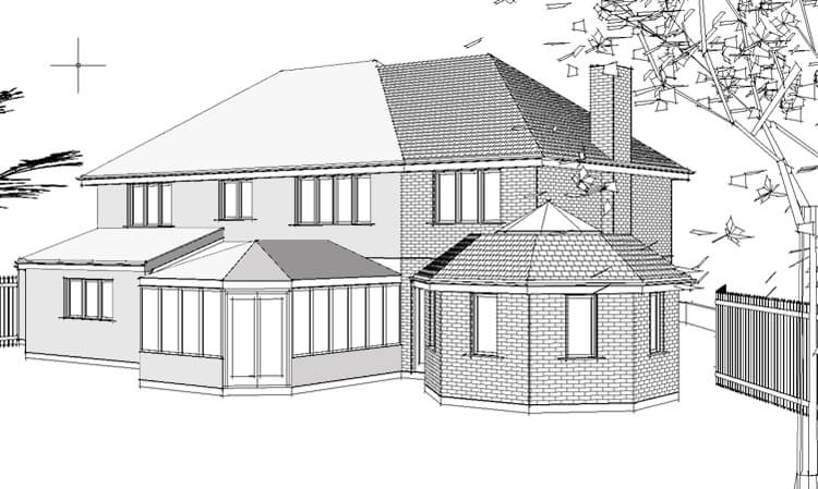 Multi storey house extension