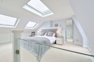Roof lights in loft conversion