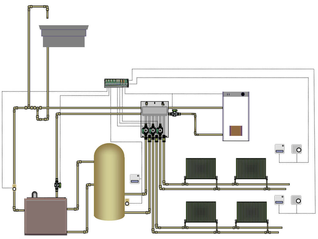 Oil fired central heating system
